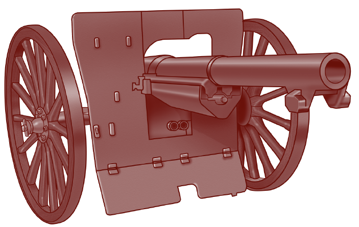WW1 Front Facing Cannon